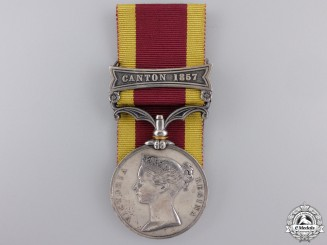 A Second China War Medal for Canton 1857