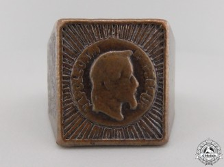 A Second French Empire Emperor Napoleon III Ring