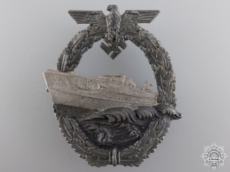 A Kriegsmarine Second Pattern E-Boat Badge