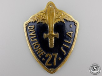 A Second War 27th Italian Division Sleeve Shield