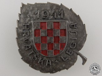 A Second War Badge of the Croatian Legion for Russian Service