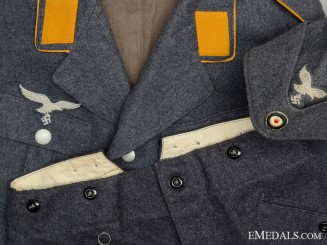 A Second War German Luftwaffe Service Uniform with 1940 Side Cap