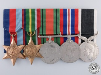 A Second War New Zealand Medal Group to Sapper Stewart
