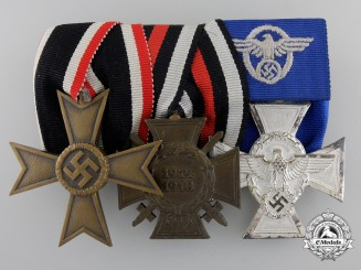 A Second War Period German Police Service Medal Bar