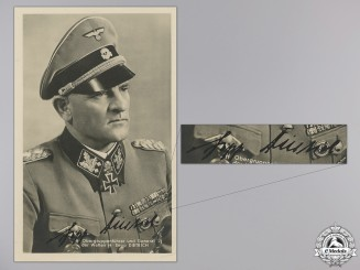 A Sepp Dietrich Signed Picture Post Card