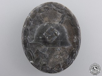 A Silver Grade Wound Badge by B H Mayer