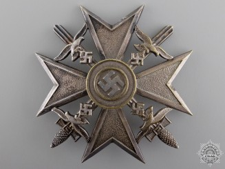 A Spanish Cross with Swords by Otto Schickle; Silver Grade