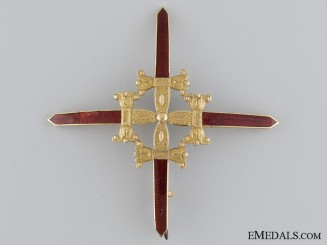 A Spanish Royal Military Order of Saint Ferdinand, Breast Star; c.1830