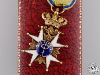 A Swedish Order of the Sword in Gold; First Class