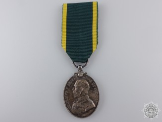 A Territorial Force Efficiency Medal to the Royal Garrison Artillery