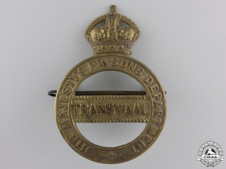 A Transvaal South Africa Prison Department Helmet Badge