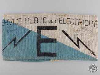 A Vichy Public Service of Electricity Armband
