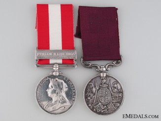 A Victorian Long Service Pair to the 25th Regiment of Foot