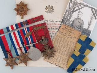 A Second War British Medal Bar with Decorations; D-Day (Juno Beach)