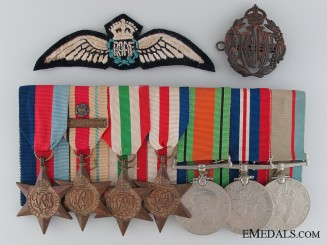 A WWII Royal Australian Air Force Medal Bar