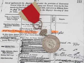 Abyssinian Medal 1869 - Bengal Sapers & Miners