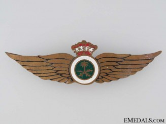 Air Force Pilot's Wings Badge, c. 1950s. RARE