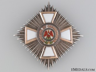 An 1860's Red Eagle Order Star 2nd Class by Godet