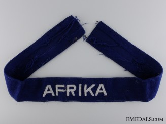 A Luftwaffe Afrika Campaign Cufftitle; Other Ranks Version