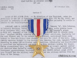 An American Silver Star to Jack Grieve for Action in Korea