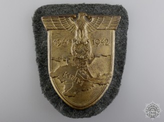 An Army Issued Vaulted Krim Campaign Shield