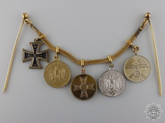 An Army Service Miniature Chain with Mine Rescue Award
