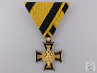 An Austrian Long Service Cross 2nd Class in Solid Gold
