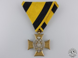 An Austrian Long Service Cross with Mother of Pearl