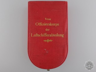 An Austrian Military Merit Cross Case for Officer's of the Airship Division