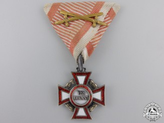 An Austrian Military Merit Cross with War Decoration