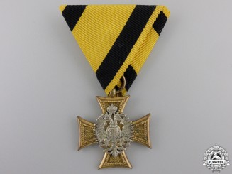 An Austrian Military Long Service Decoration; 25 years Service