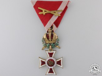 An Austrian Order of Leopold with War Decoration; Knight`s Cross