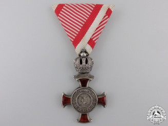 An Austrian Silver Merit Cross by W.Kunz