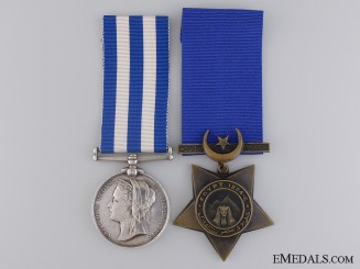 An Egypt Medal Pairing to the Yorkshire Regiment