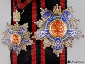 An Egyptian Order of the Republic; Grand officer's Set