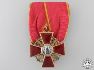 An Imperial Russian Order of St. Anne; Third Class in Gold