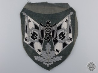 An Infantry Flag Bearer Sleeve Insignia; Tunic Removed