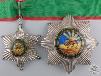 An Iranian (Pahlavi Empire) Order of Homayoun by Arthus Bertrand
