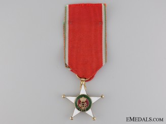 An Italian Colonial Order; Knights Badge in Gold