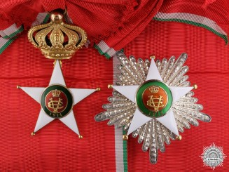 An Italian Order of the Colonial Star in Gold; Grand Cross