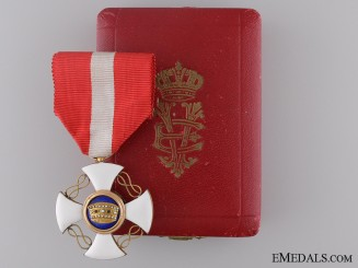 An Order of the Crown of Italy; Knight
