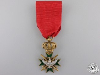 An Order of the White Falcon in Gold; Knight First Class in Gold