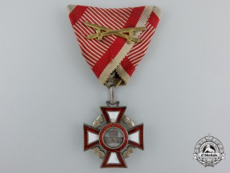 An Austrian Military Merit Cross with War Decoration by V.Mayer