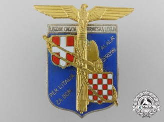 An Italian-Croatian Legion Officer's Badge 1942 by S. Johnson, Milano
