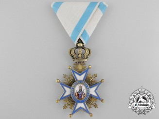 A Serbian Order of St. Sava; 4th Class by G.A. Scheid, Type I