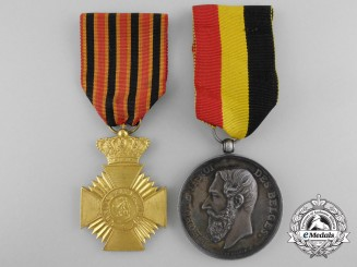 Two Belgian Medals & Awards