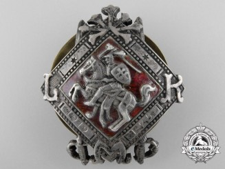A Lithuanian Military School Badge c.1920