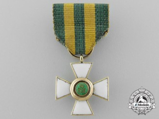 A Fine Luxembourg Miniature Order of the Oak Crown in Gold