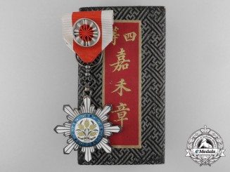 A Chinese Order of the Golden Grain; Officer, 4th Class with Case