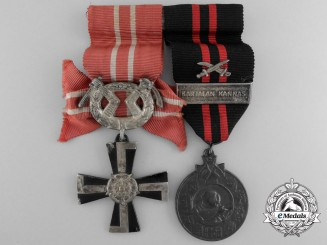 A Second War Finish Medal & Order Pairing